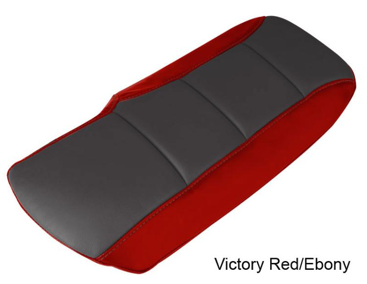 Two-Tone Leather Corvette Center Console Lid Cushion