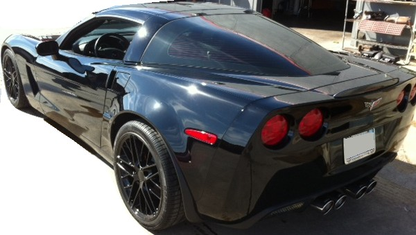 C6 Coupe Wide Body Painted Quarter Panels Kit