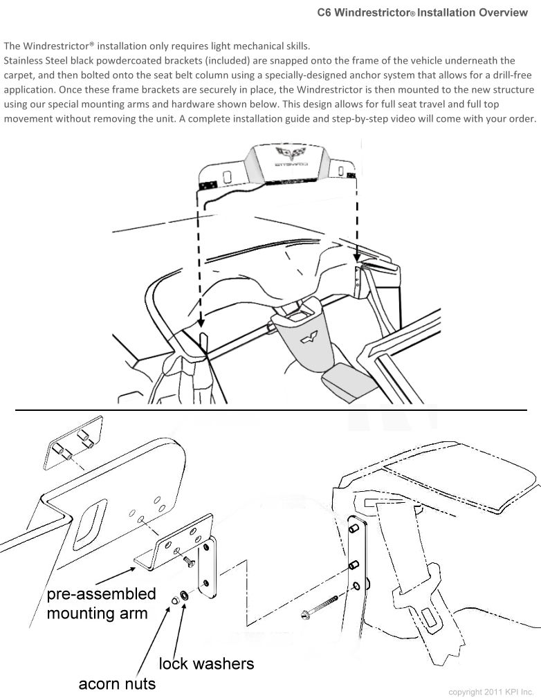 Windrestrictor Installation Instructions