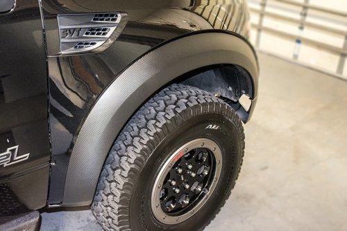 2010 2014 Ford Raptor Carbon Fiber Vinyl Fender Flare Wrap Kit Southerncarparts Com