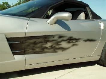 C6 Corvette Custom Airbrushed Vehicle Side Graphic