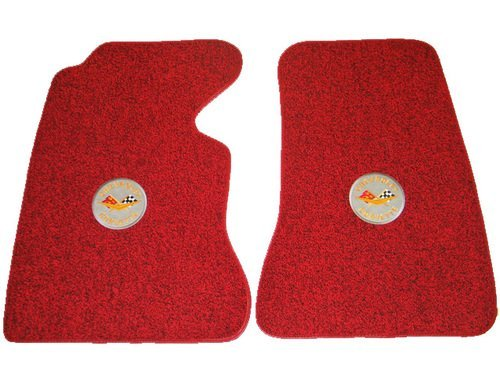 1953 C1 Corvette Floor Mats with Logos Embroidered