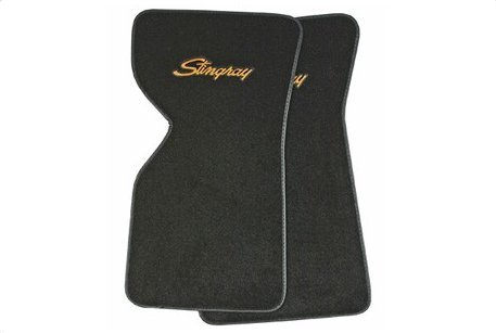 1969 C3 Floor Mats with Logo Embroidered