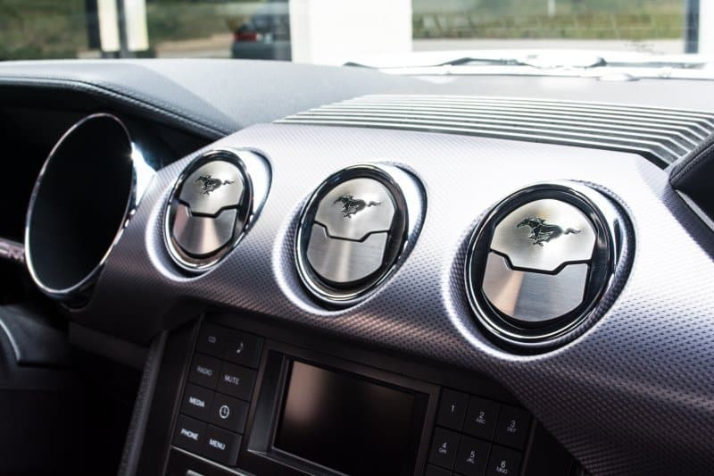 2015 2017 mustang a c vent 3 trim kit w etched pony - 2013 mustang interior accessories ...