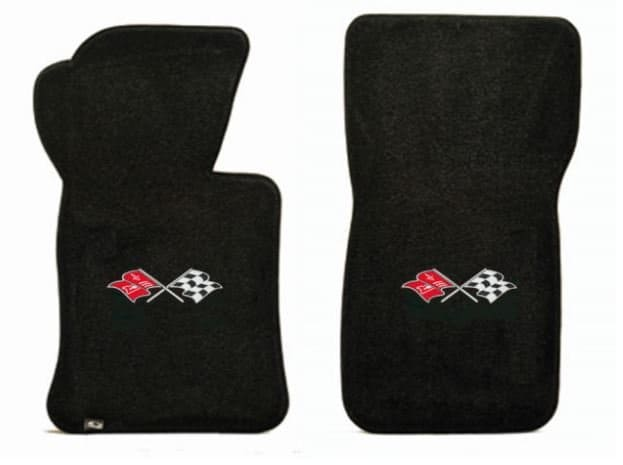 1966 C2 Corvette Floor Mats with Logo Embroidered