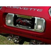 C5 Corvette Laser Mesh Rear License Plate Frame Tag