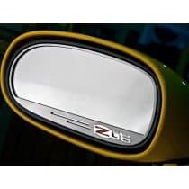 C6 Corvette Side View Mirror Trim Rings w/Z06 Logo - Brushed