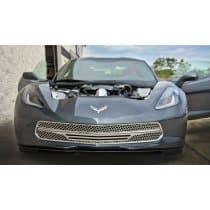 C7 Corvette Stingray -3pc Retro Matrix Series Front Grille Black