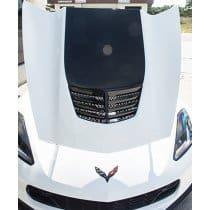 C7 Corvette Stingray - Expanded Diamond Pattern Hood Vent Grille