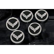 C7 Corvette Stingray Engine Caps w/Crossed Flag Logo