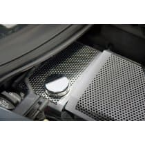 C7 Corvette Coolant Surge Tank Cover - Brushed Perforated