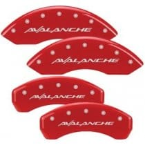 "2000-2006 Red Caliper Covers with ""AVALANCHE"" Engraving"
