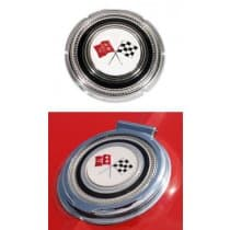 1965 C2 Corvette Gas Lid Emblem