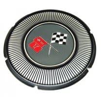 1966 C2 Corvette Gas Lid Emblem Black