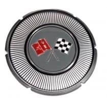 1966 C2 Corvette White Gas Lid Emblem