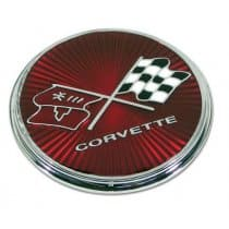 1975-1976 C3 Corvette Fuel Door Emblem