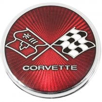 1975 1976 c3 corvette gas fuel door emblem