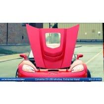 C6 C6 Corvette  L88 Hood (w/ polycarbonate Center Window)