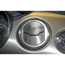 2015-2017 Mustang - A/C Vent (3) Trim Kit Brushed w/Etched Coyote