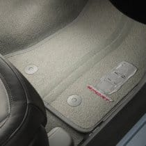 C7 Corvette Grand Sport Embroidered Floor Mats Grey with Grey Stitching