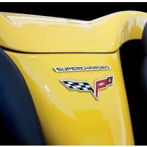C6 Corvette Billet Supercharged Emblem