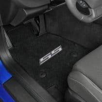 2016-2017 6th Generation Camaro Silver SS Logo Front Floor Mats