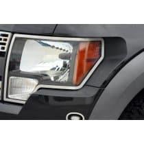 2009-2014 Ford F150/Raptor Headlight Trim Rings Brushed 2Pc