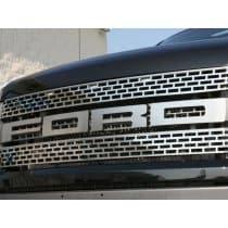 2010-14 Ford Raptor Front Grille Letters Lettering Polished