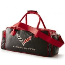 C7 Corvette Black and Red Duffel Bag
