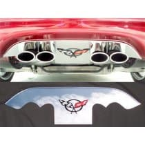 Corvette C5 Polished Exhaust Port Filler Panel