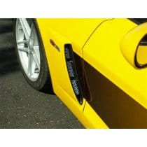 C6 Corvette  Z06 2-pc Perforated Stainless Vents (2006+)