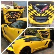 C7 Corvette Z06 Custom Airbrushed Hood Liner - Z07