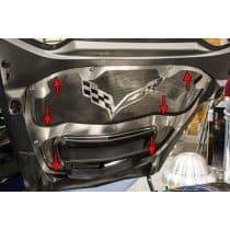 C7 Corvette Hood Trim with Center Brace For Any Hood Panel