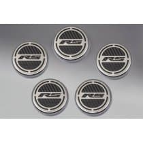 "2010-2015 Camaro V6 | Cap Cover Set ""RS"" Series Automatic 5pc Carbon Fiber"