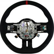 2015-2017 Ford Mustang GT350 D Style Steering Wheel with Red Trim