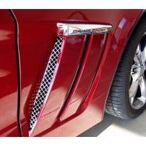 C6 Corvette  Grand Sport Laser Mesh Stainless Side Vent Grills