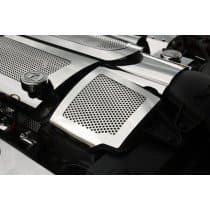 C6 Corvette  Perforated Stainless Air Capacitor Cover