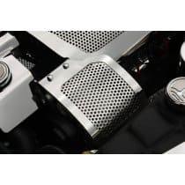 C6 Corvette  Perforated Stainless Alternator Cover