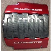 C7 Corvette Plenum Cover Overlay - Hydro Carbon Fiber