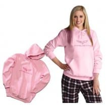 C6 Corvette Womens Pink Hooded Sweatshirt