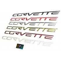 C6 Corvette Domed Rear Bumper Lettering Inserts Letters Kit