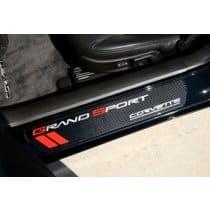 C6 Corvette  Grand Sport Door Sill Plates - Carbon Fiber