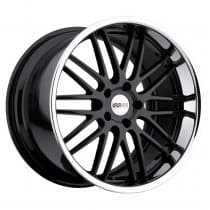C7 Corvette Cray Hawk Gloss Black with Chrome Lip Wheels Set