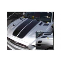 2015-2017 Mustang Dual Hood Stripes with Pinstripes and Faders