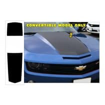 2010-2013 Camaro Over The Car Stripe Kit Convertible Solid Style