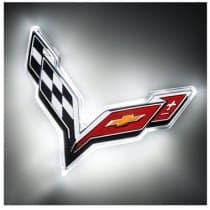C7 Corvette LED Rear Emblem Illuminated
