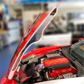 C7 Corvette Polished Hood Side Caps (2pc)