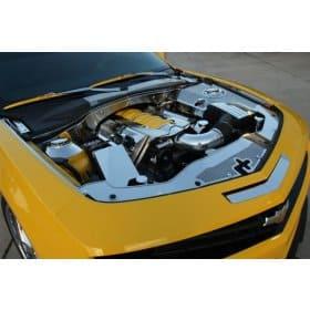 2010-2013 Camaro Perforated Stainless Steel Header Plate