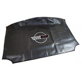 C4 Corvette Embroidered Top Bag Black w/ 1991-1996 Logo