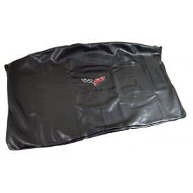 C6 Corvette Embroidered Top Bag Black w/ Black C6 Logo